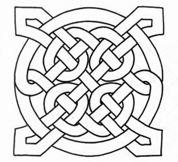 Color a Celtic Knot - Printable Celtic Knot Pattern Coloring Pages...