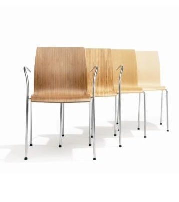The Kusch Trio Stacking Chair features a comfortable moulded wooden seat shell, and tubular steel 4 leg frame. A strong sturdy chair with a simple refreshing design suited for lunch rooms and auditoriums, offices and meeting room #seated #kusch #trio #stacking seated.com.au