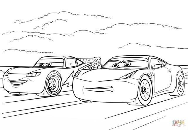 Cars 3 Free Printable Coloring Pages