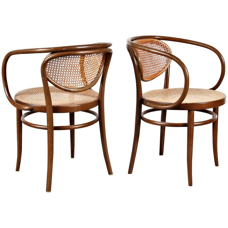 Kitchen Armchairs: Pair Of Thonet Armchairs