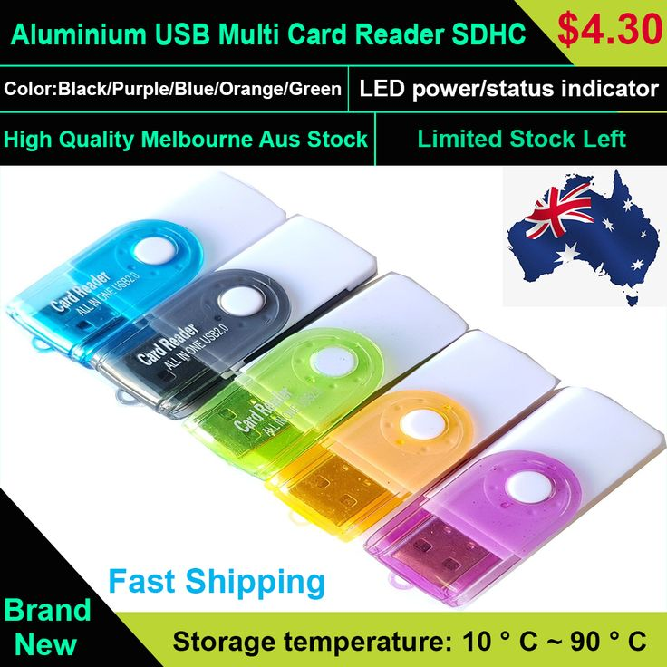 Aluminium USB Multi Card Reader SDHC SDXC Micro SD Memory Stick M2  Different computer screens may display different colors, even if it is the same color. So, please accept the reasonable color difference.