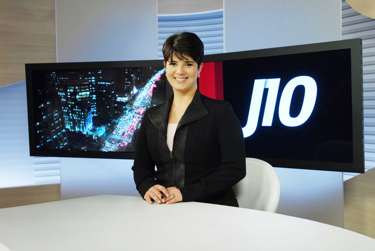 Mariana Godoy at Globo News Studios in Rio de Janeiro