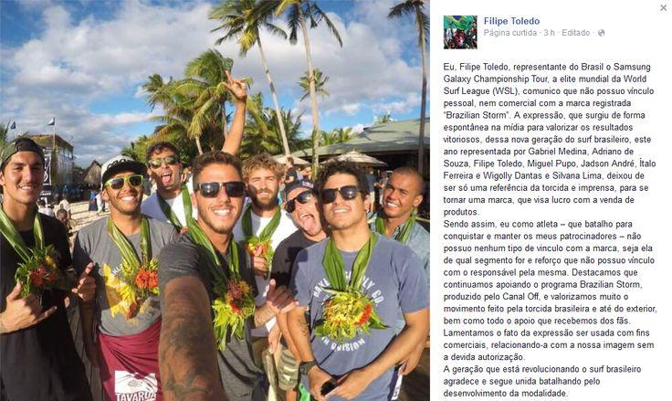 """Termo """"Brazilian Storm"""" é registrado e gera polêmica com surfistas brasileiros #globoesporte"""