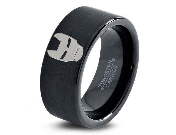 Iron Man Ring Mens Superhero Stark Industries Fanatic Geek Sci Fi Jewelry Comics Boys Girls Womens Superhero Fathers Day Gift Ring