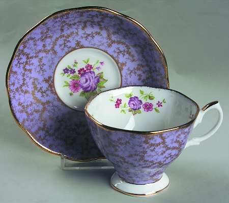 Royal Albert Archive-Lavender Footed Cup & Saucer Set