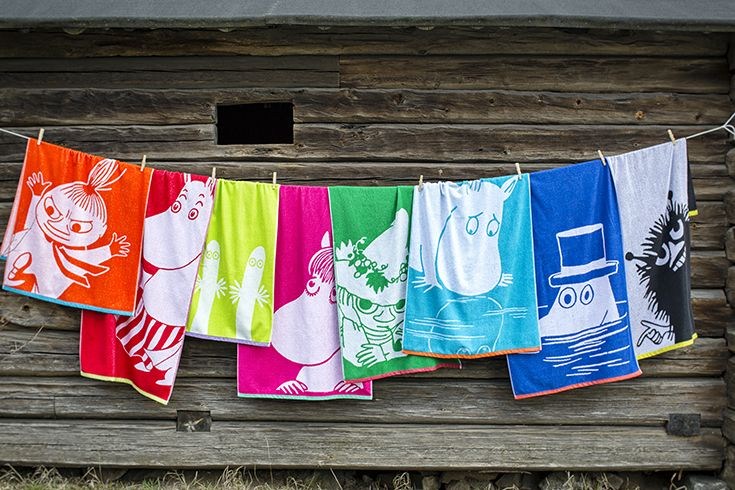 Our new Moomin towels!    Uudet Muumi-pyyhket