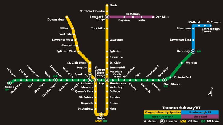 Subway map, Toronto and Maps ...