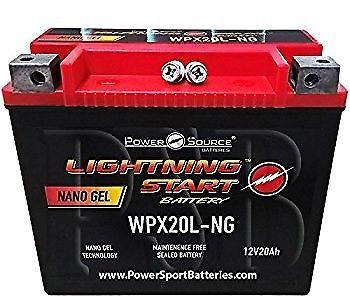 Lightning Start  Maint. Free Battery Harley Davidson WPX20L-NG NANO GEL