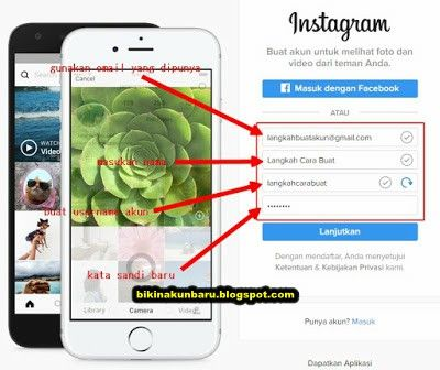 Daftar Instagram Lewat Google | Sign in Instagram Via Web