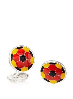 Tateossian Yellow Red Football Cufflinks