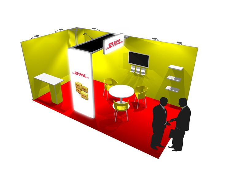 DHL trade show stand design