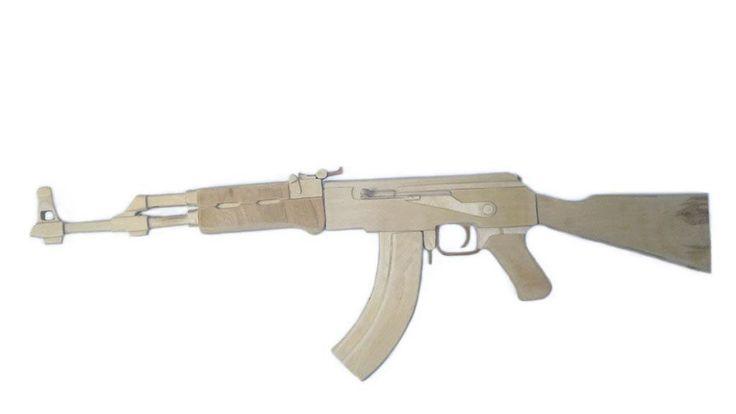 Деревянный макет автомата АК-74. Полноразмерный, высокая детализация и сходство с оригиналом.