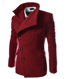 Pánský kabát Bulo červený AKCE