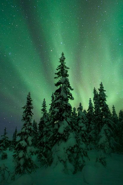 The northern lights and beautiful landscapes in Sweden and Norway