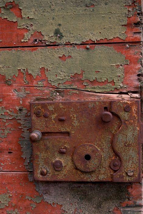 Rusty Metal Door 379 best rust as art images on pinterest | peeling paint, rusty