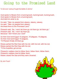 moses leaving egypt...sung to the tune of 'joshua fought the battle of jericho'