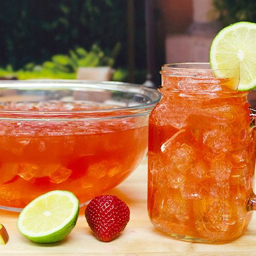 Jack of all Trades Ingredients: 8 oz Lime-A-Rita 8 oz Straw-Ber-Rita 8 oz Mang-O-Rita 8 oz Raz-Ber-Rita 12 oz Bud Light Lime [[MORE]] Garnish: Lime Half Wheel  Glassware: Margarita Glass  Method: In pitcher or punch bowl, combine all four Ritas and Bud Light Lime. Pour into individual glasses and garnish with lime.