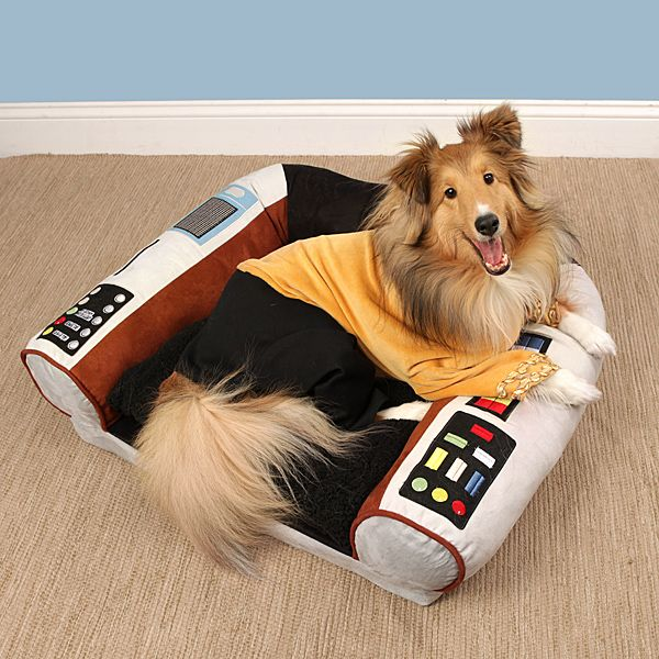 Star Trek captains chair dog bed.