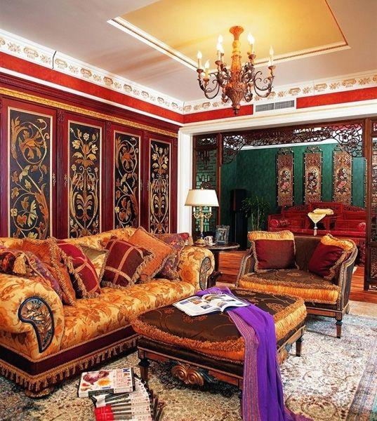 Восточный интерьер | Красочный восточный стиль в интерьере ...
