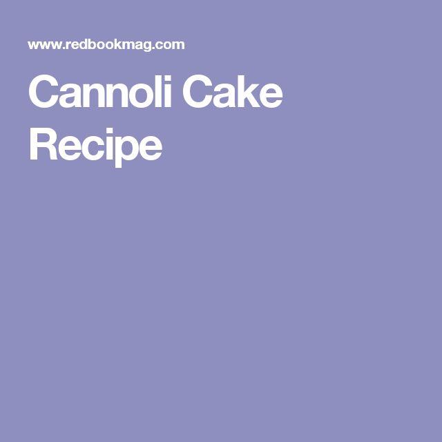 Ferrara Cannoli Cake Recipe