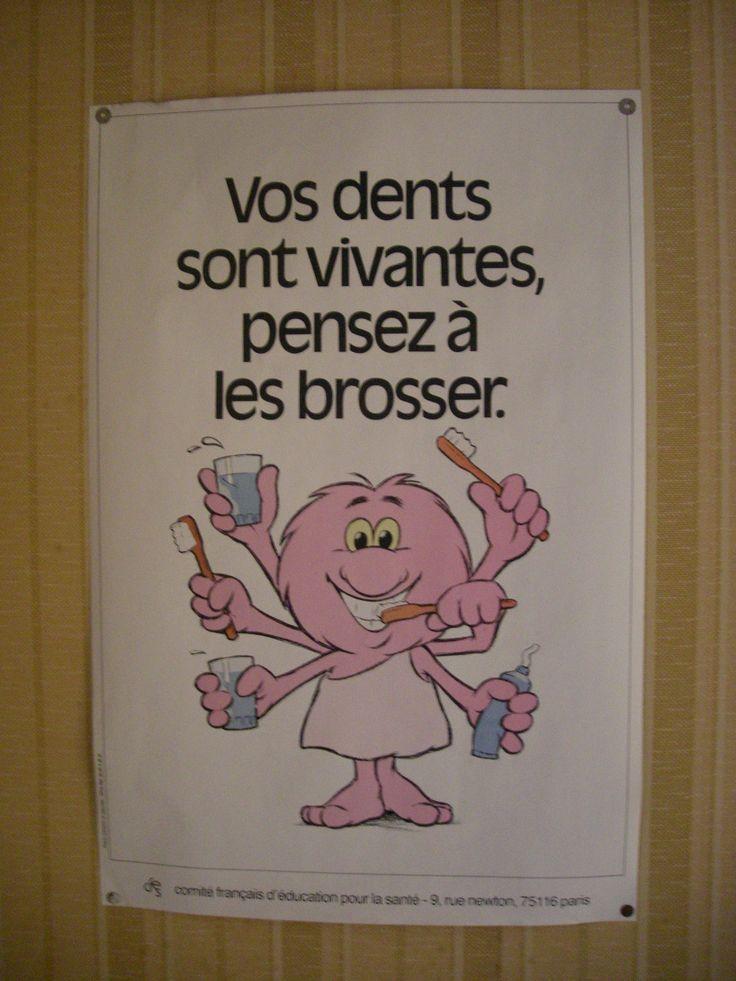Affiche typique que l'on trouvait dans les infirmeries et les dispensaires dans les années 70-80