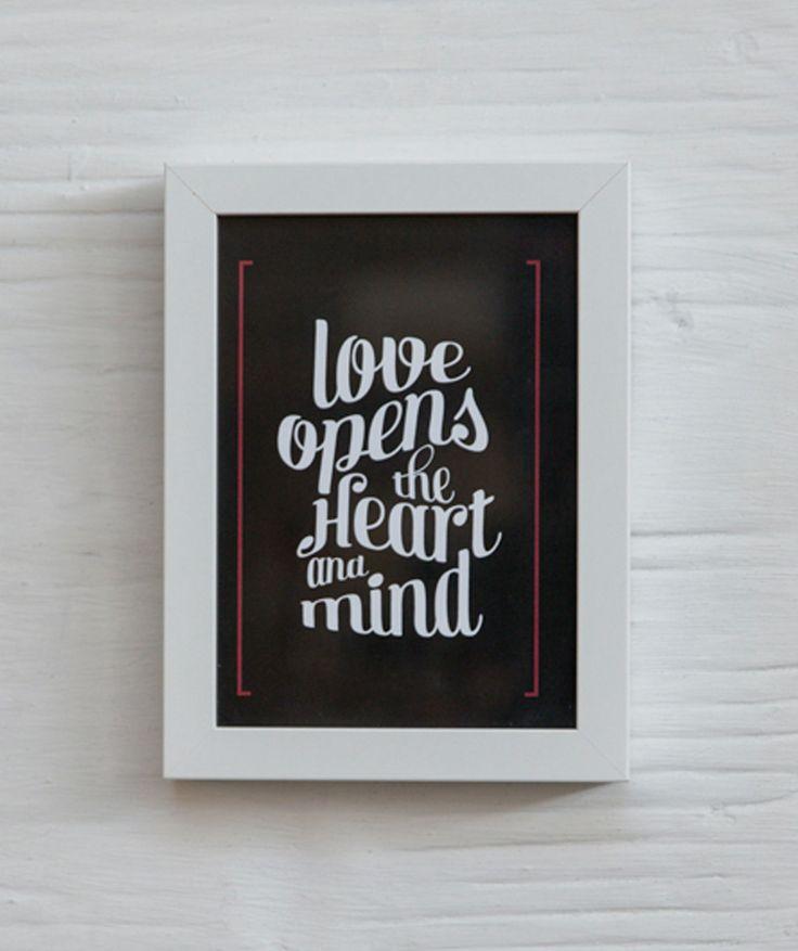 Love opens el amor abre el coraz n y la mente cuadro for Decoracion de paredes con cuadros