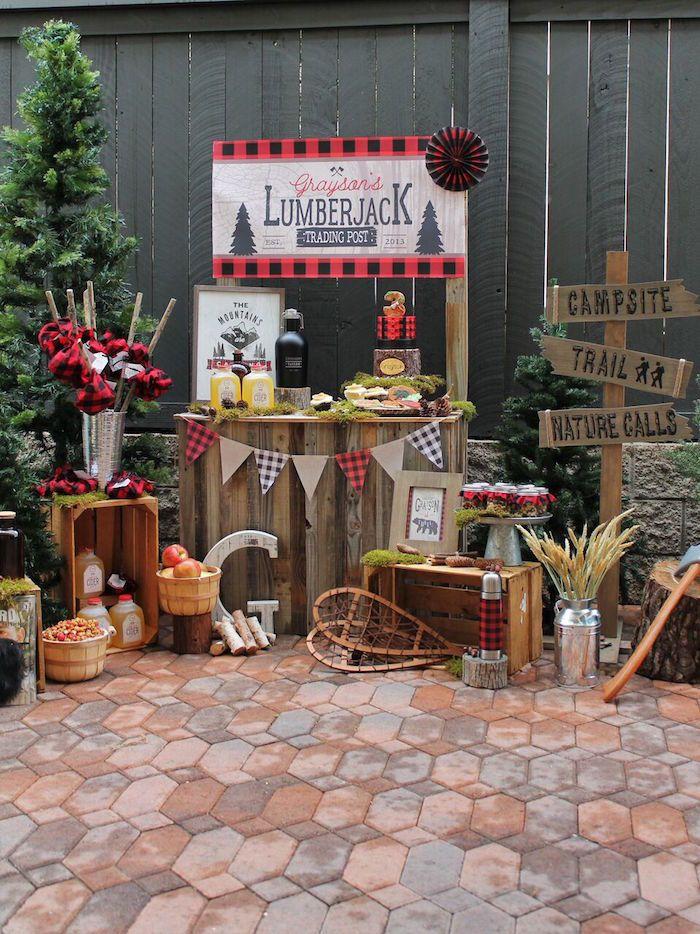 Little Lumberjack Birthday Party on Kara's Party Ideas | KarasPartyIdeas.com (44)