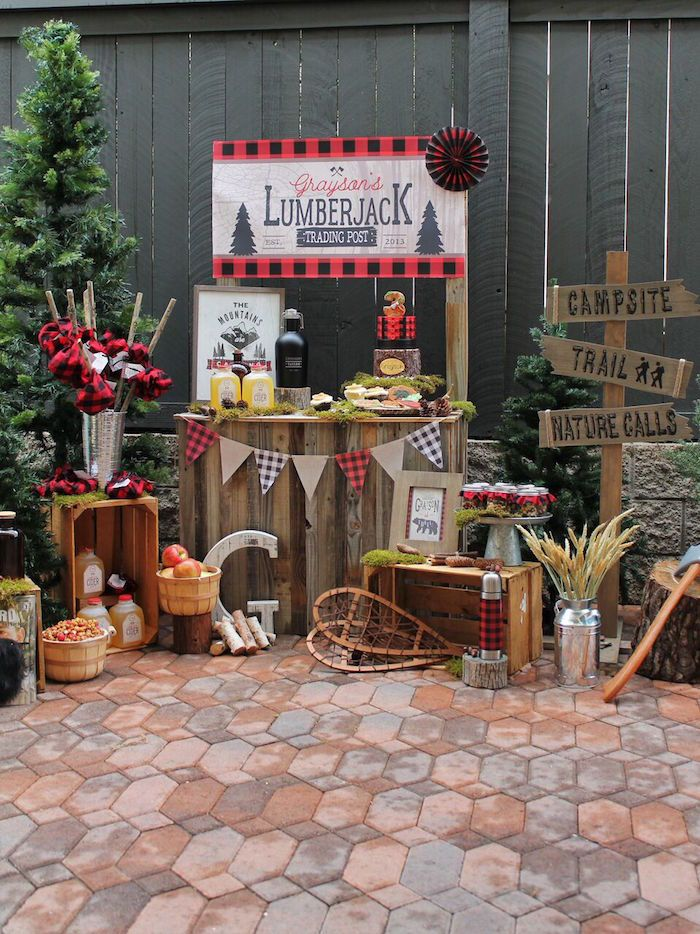 Little Lumberjack Birthday Party on Kara's Party Ideas | KarasPartyIdeas.com (44)