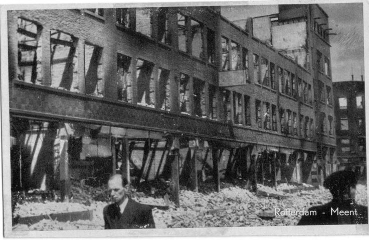 WW2 in the Netherlands - Rotterdam May 14th 1940 - Meent.