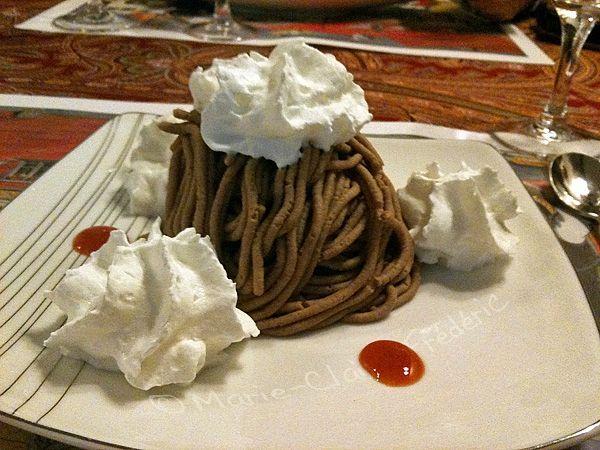 La torche aux marrons, ce mirifique dessert alsacien aussi appelé Mont Blanc