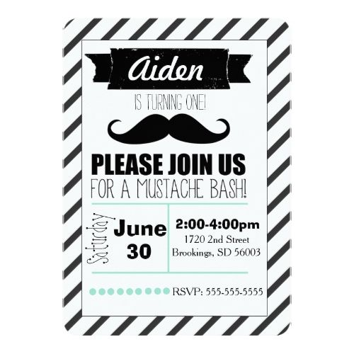 customizable mustache party invitation - Mustache Party Invitations