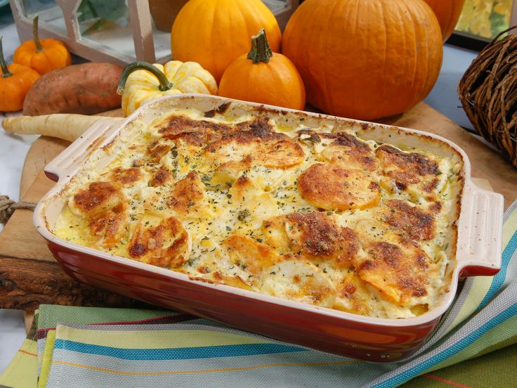 Root Vegetable One-Dish recipe from Nancy Fuller via Food Network maybe not add so much cream!