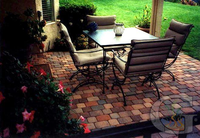 Concrete paver patio design by Genesis.
