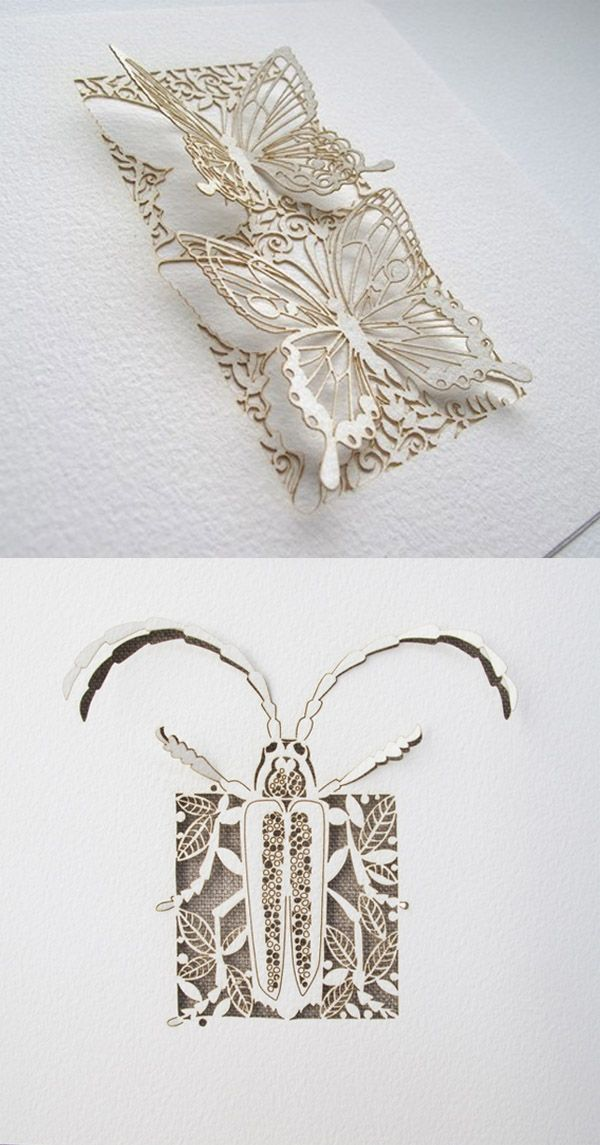 by Sara Burgess  http://www.etsy.com/shop/PaperSaw The beetle is nice...