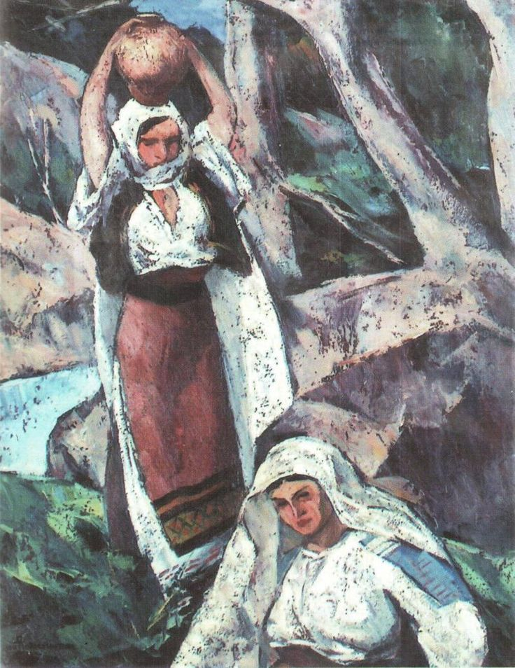 Two Peasant Women - Ion Theodorescu-Sion