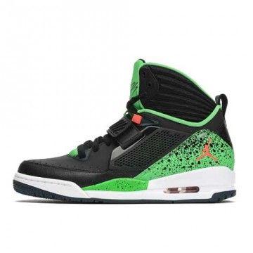 Chaussures Jordan Flight 97 noires - vertes sur basketstore.fr