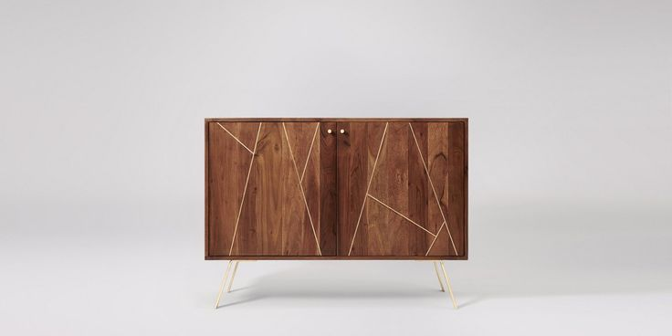 Herning Acacia & Brass Sideboard | Swoon Editions