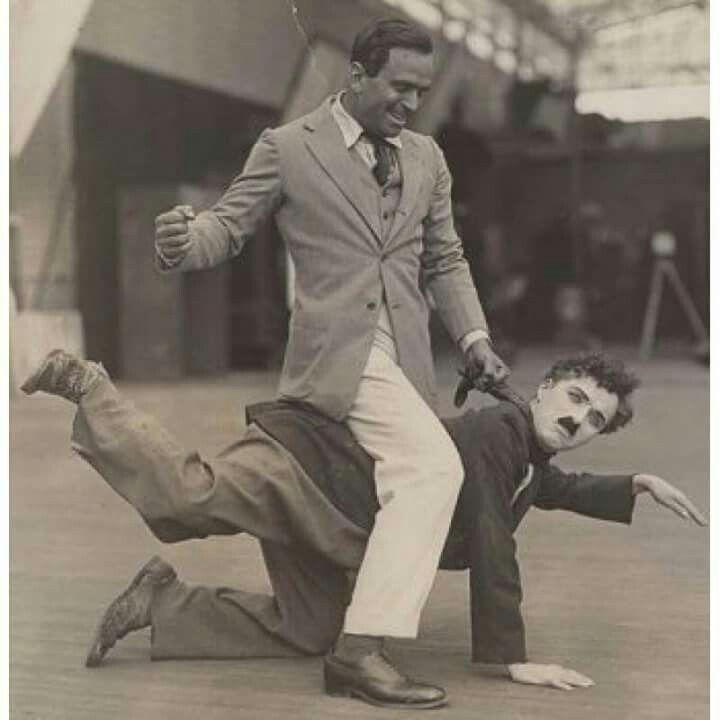 Charlie Chaplin and Douglas Fairbanks