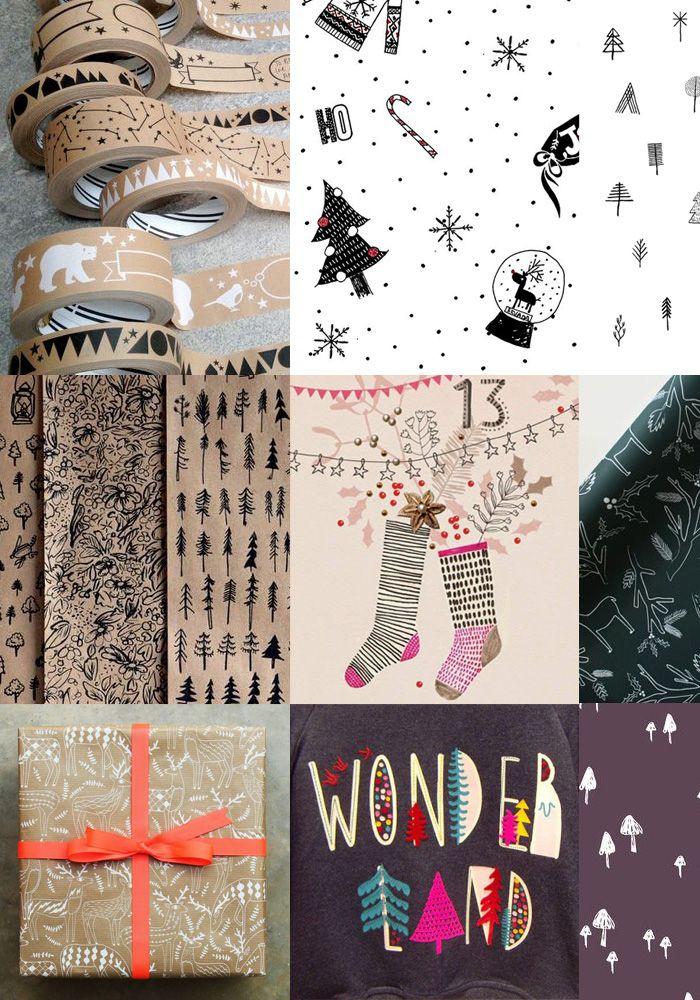 Drawn Narrative - Patternbank's Festive Christmas Print and Pattern Trends 2016