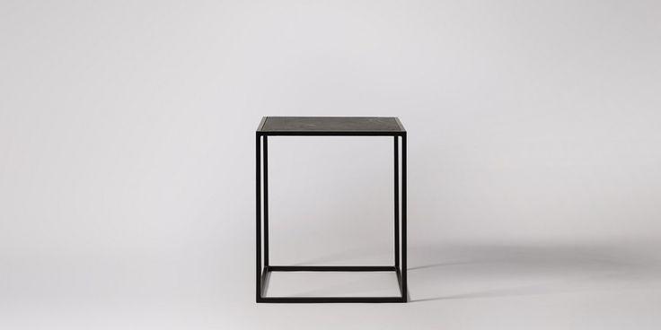 Marcelo Slate Veneer Side Table   Swoon Editions