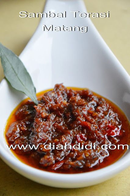 Diah Didi's Kitchen: Sambal Terasi Matang