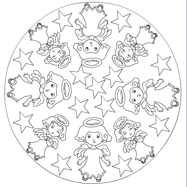 45 picture of mandala christmas ornaments coloring pages free printable coloring pages for kids coloring books - Christmas Mandalas Coloring Book