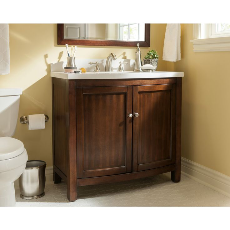 The Art Gallery Shop allen roth Moravia Sable Undermount Single Sink Bathroom Vanity with Engineered Stone Top