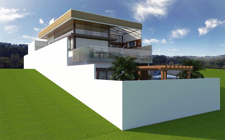 17 best images about plantas de casas em declive on - Casa estructura metalica ...