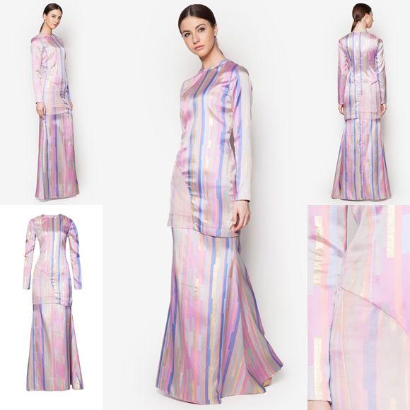 Fesyen Trend Terkini Bianco Mimosa Prunicolor Baju Kurung Moden Baju Raya 2017