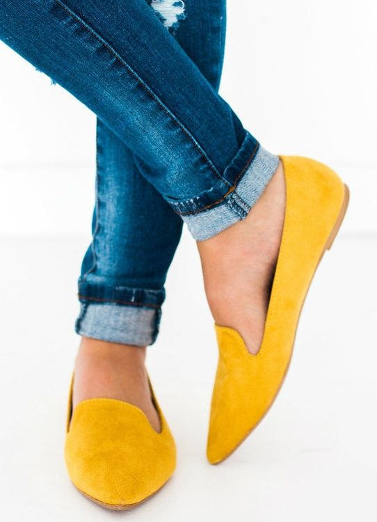 b3c1b63dc81 Zoom Slip On Flats Yellow
