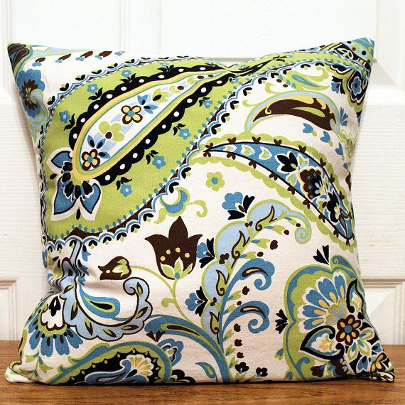 Blue Brown Green Throw Pillows : 13 best Blue Green Pillow Covers images on Pinterest Green pillow covers, Green pillows and ...