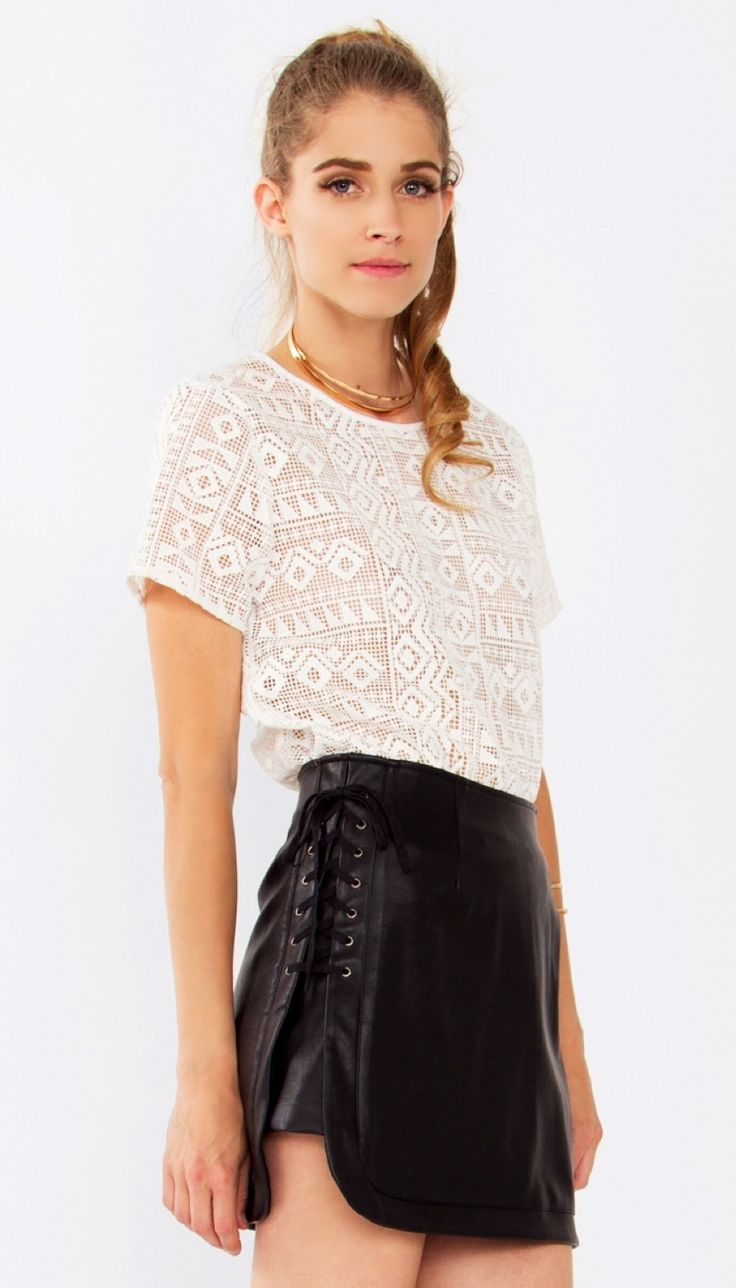 Sweet Aztec Top*    Aztec printed lace short sleeve top. This blouse is unlined.