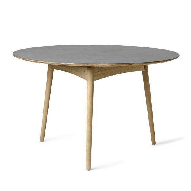 Mater Tisch Rund Grey Linolium Moebel Liebe Com Kuchentisch Rund Esstisch Runder Esstisch