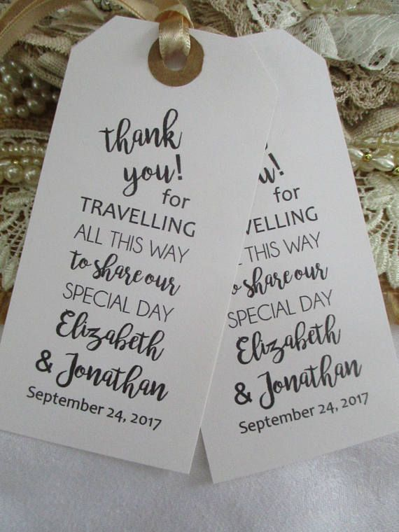Thank You for Travelling To Share Our Special Day